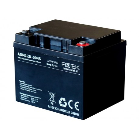 Baterie 12V/45Ah AGM12D-0045 DEEP CYCLE